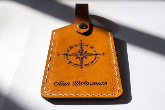 Personalized Luggage Tag handcrafted from premium natural