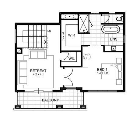 Hayman upper floorplan