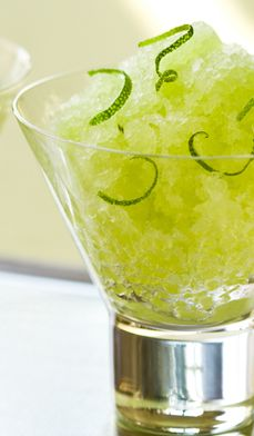 Honeydew Granita is as easy as chunks of fresh, ripe melon popped in the blender with lime juice and the tiniest bit of sugar and salt. A couple of hours in the freezer and you'll enjoy a heavenly frozen dessert. #recipes #party #fruit #light