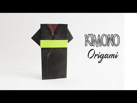 How to make a paper Kimono dress - Origami Yukata dress - Origami Clothes - YouTube