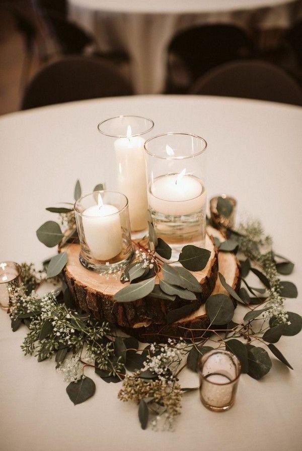 20 centres de table de mariage romantique avec bougies # bougies # centres de table # romanti...