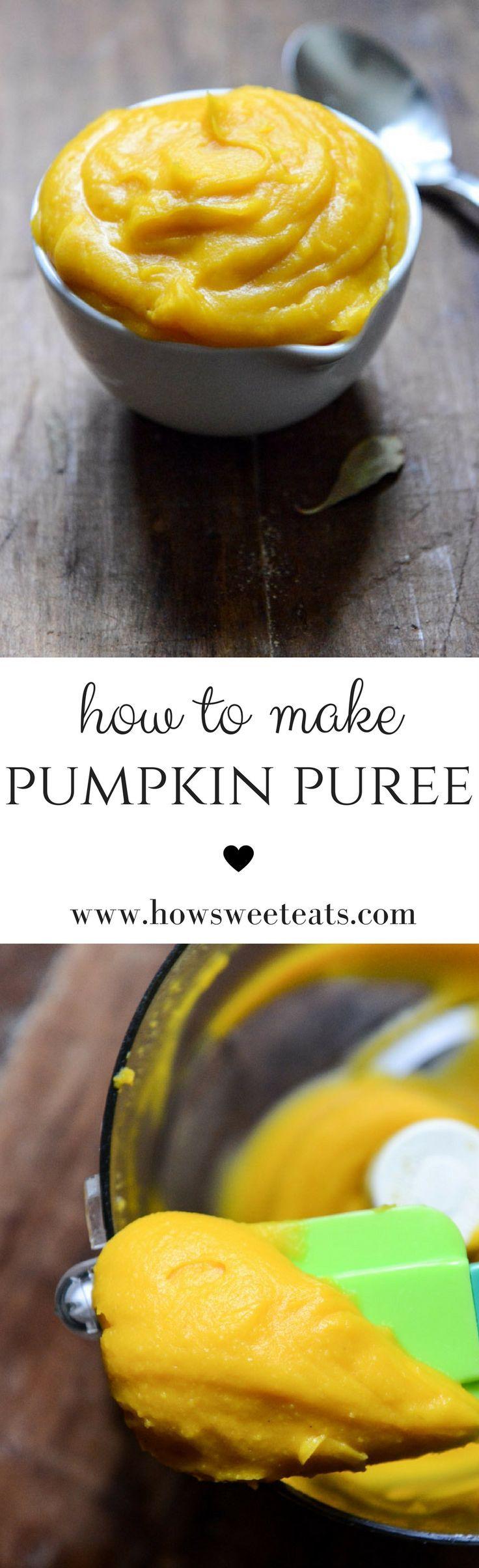 Exactly how I make Homemade Pumpkin Puree I http://howsweeteats.com /howsweeteats/ #thanksgiving