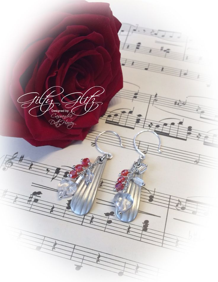 Silver Plated Vintage Spoon Handle Dangle Earrings with Handmade Ear Wires by GiltyGlitz on Etsy