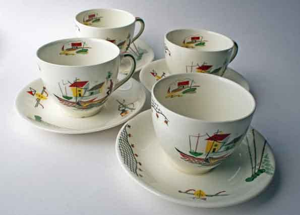 1950\u0027s Alfred Meakin Teacups and Saucers Brixham Fisherman Fishermans Cove 1950s teacup. & 39 best Alfred Meakin China images on Pinterest   Alfred meakin ...