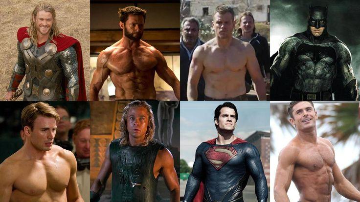 Antes de convertirse en hombres musculosos en la pantalla grande estos actores tuvieron que exigir su cuerpo al máximo.La dieta y el duro entrenamiento de las estrellas para ser héroes en el cine - Infobae