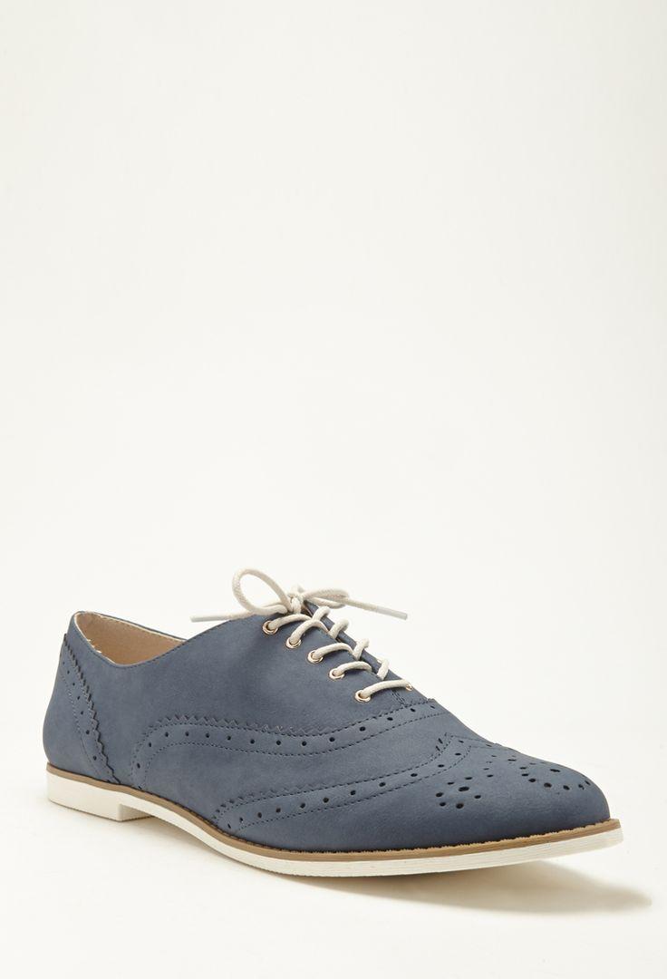 Brogue-Schuhe in Wildlederlook - Damen Schuhe und Stiefel