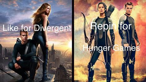Can't believe I'm saying this but I think I like hunger games more but Divergent is a close second