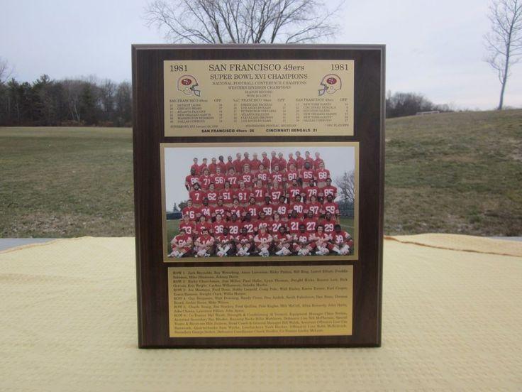 1981 San Francisco 49er Team Super Bowl XVI Champions Wood Plaque  #SanFrancisco49ers