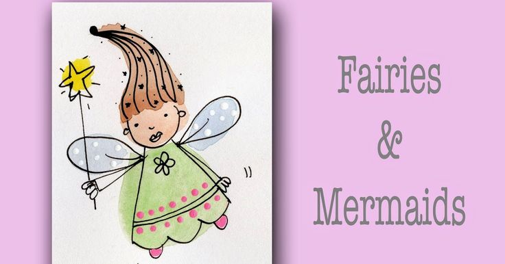 how to draw fairies and mermaids