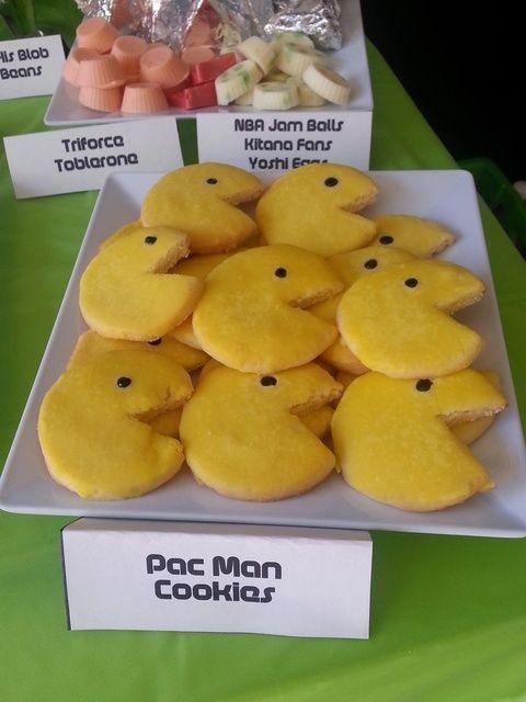 80s pacman cookies