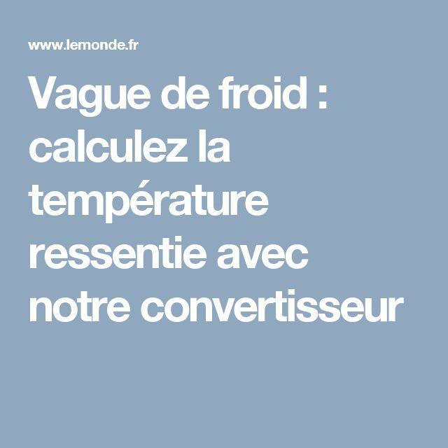 Vague de froid: calculez la température ressentie avec notre convertisseur