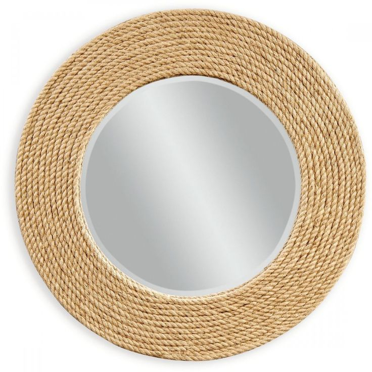 Round Metal Mirror With Rope Part - 49: For A Dash Of Seaside Sophistication, Try The Palimar Wall Mirror - 36  Diam. This Round Beveled Mirror Comes Framed In Sisal Rope Rows For.