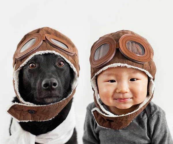 Adorables photos d'un enfant avec son chien | w3sh.com