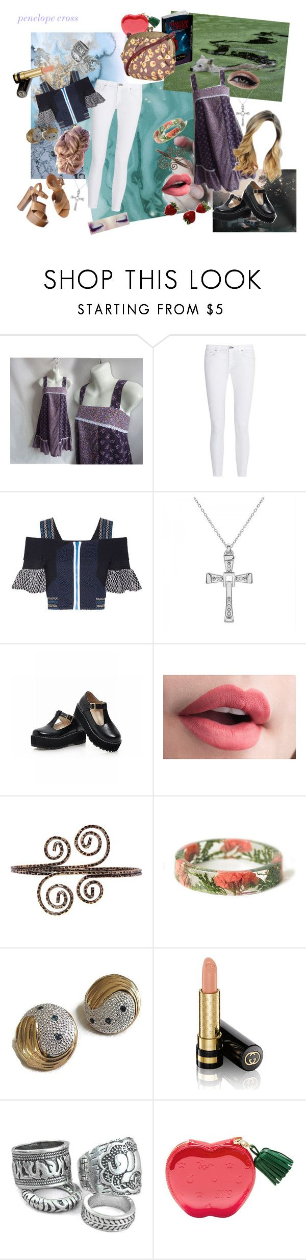 """""""everyone loves a smile"""" by thewhoreofcookies ❤ liked on Polyvore featuring rag & bone, Peter Pilotto, Michael Kors, New Look, Gucci, vintage, mashverse and saycheeseforthecamera"""
