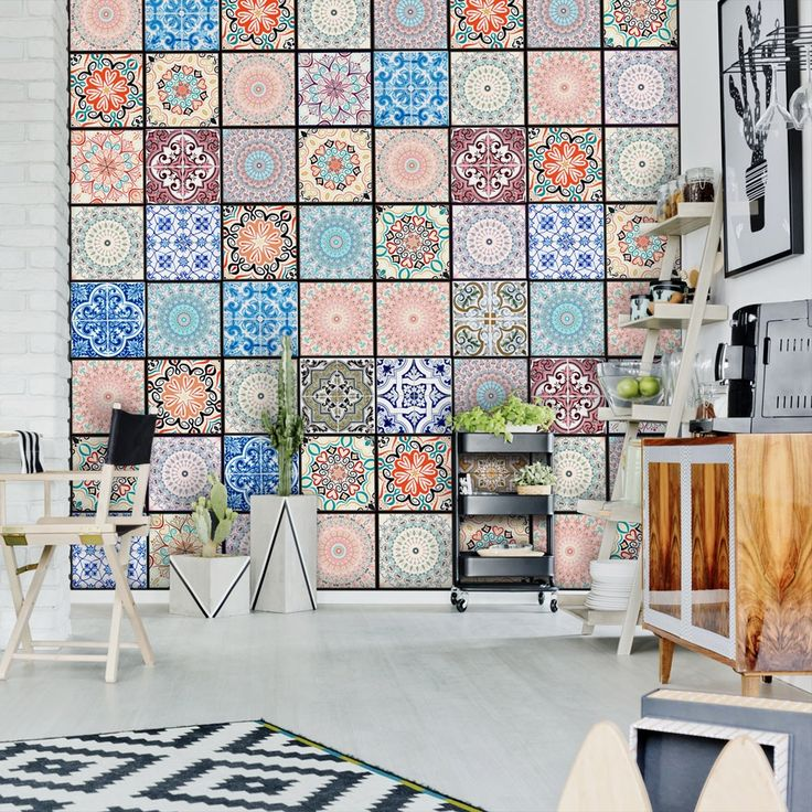 Las 25 mejores ideas sobre papel tapiz en pinterest for Papel pintado imitacion azulejo