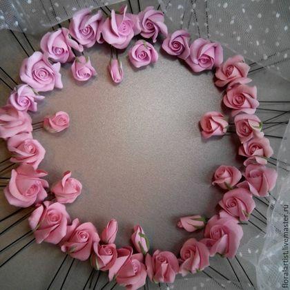 """Свадебные украшения ручной работы. Ярмарка Мастеров - ручная работа. Купить шпильки -цветы """"Розовые розы"""". Handmade. Розовый, украшения"""