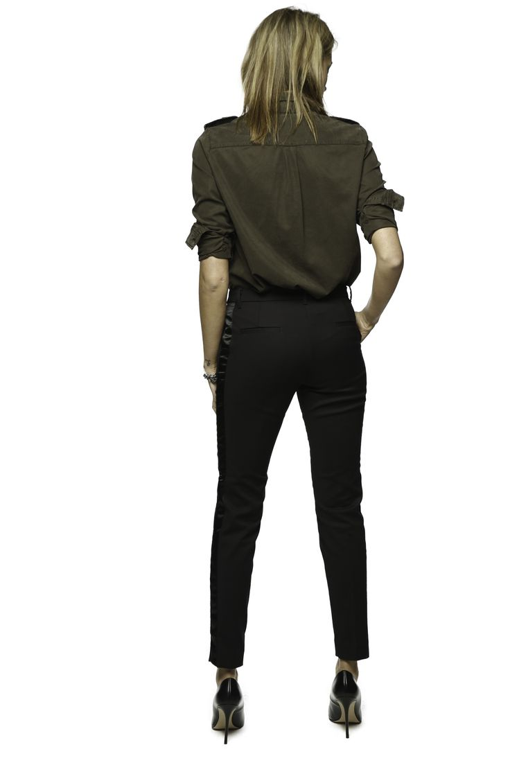 Mason's Woman shirt model Azalia Military style in Tencel - Masons