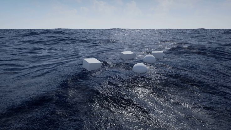 Unreal Engine 4 Physical Ocean Surface - Different Sea States