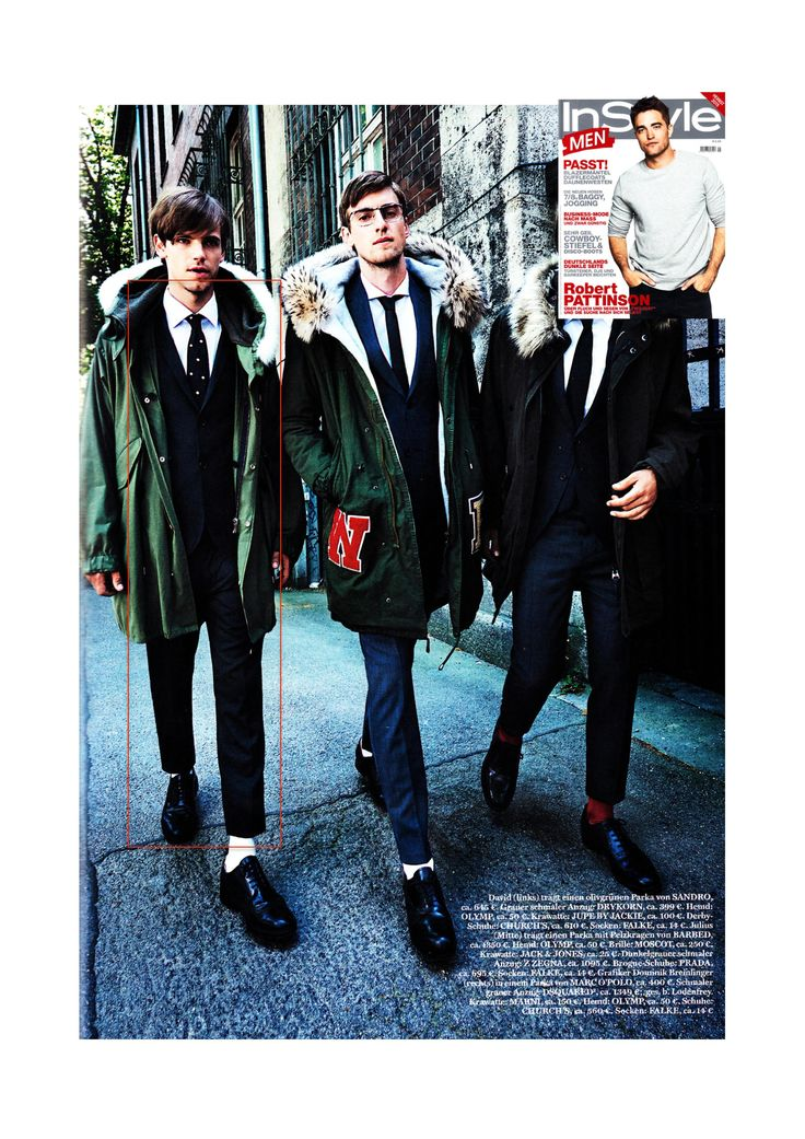 DRYKORN in the Edition of German InStyle Men/Sept. 2015