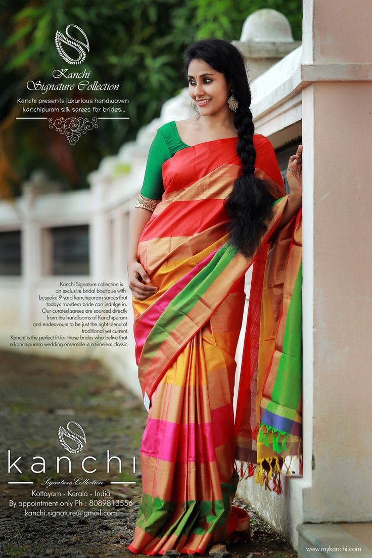 Kanchi Bridal saree collection To place an order- FB: https://web.facebook.comkanchi.signature.collection/ Whts app - 08089813556 Website - www.kanchisignaturecollection.in Email -kanchi.signature@gmail.com