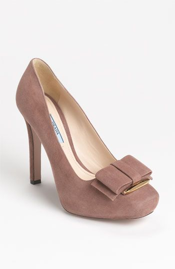 Prada Platform Bow Pump | NordstromPlatform Bows, Fashion Shoes, Bows Ties, Bows Pump, Prada Bows, Woman Shoes, Shoes Gallery, Ties Pump, Prada Platform