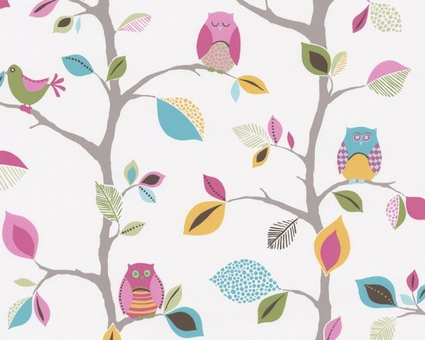 Super adorable owl wallpaper for kids rooms - available at eurowalls.