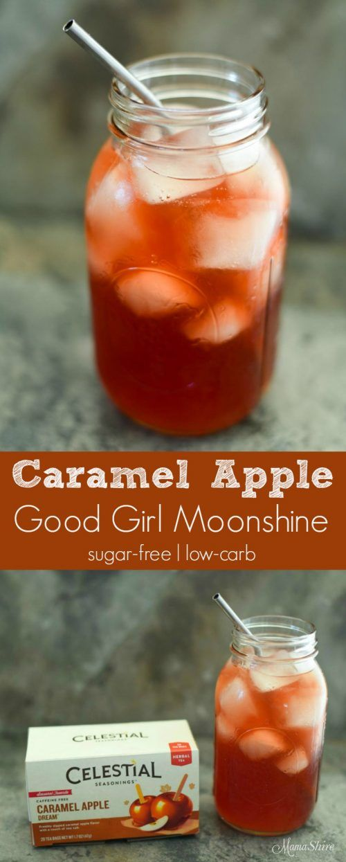 Caramel Apple Good Girl Moonshine - Sugar-Free, Low-Carb, THM All-Day Sipper (acv drink)