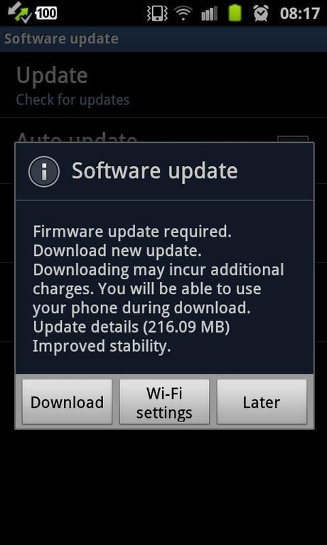 Samsung Galaxy II sai ICS päivityksen!