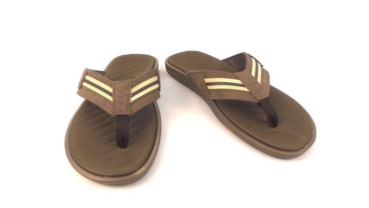 G.H. Bass Weekend Brown Flip Flops Sandals Thong Flip Flops Flats Slides Mens 9  #GHBass #FlipFlops