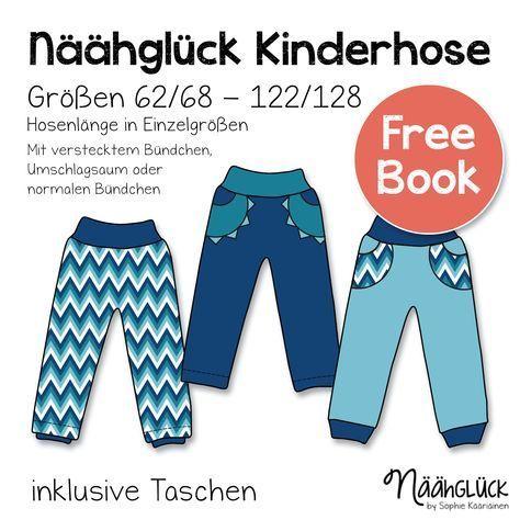 Kostenloses Schnittmuster einer Kinderhose von Näähglück. #nähen #freepatterns