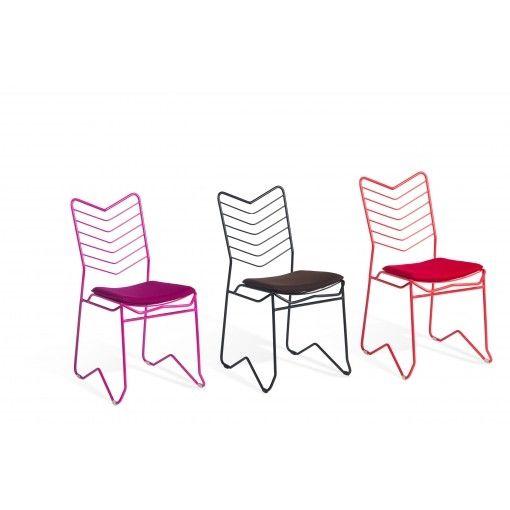 Dexter Side Chair - дизайнерские обеденные стулья. Металлические стулья. Разные цвета.