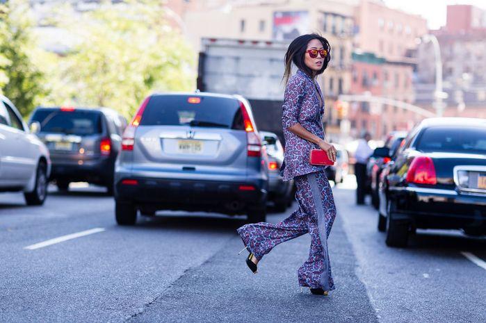 New York Moda Haftasi sokak modası / Street Style New York