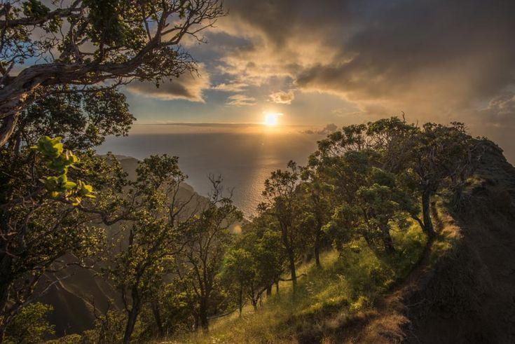 Sunset over Kalalau  by Samuel Lethier