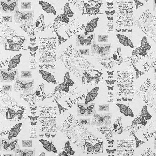 vevet natur m grå/sorte sommerfugler