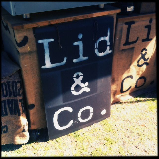 Lid & Co our coffee stall.