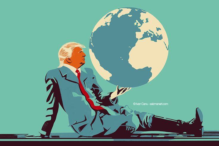 @Ivan Canu salzmanart.com client: die Zeit: The ridiculous dictator and the planet's doubt #editorial #trump #politics #earth #protocol