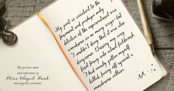 Psst, take a peak inside Abigail Rook's private diary. (Don't tell Jackaby, please. And don't stare at the frog.)