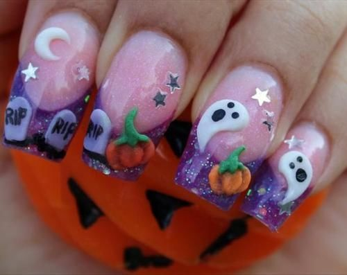 cute halloween nail art