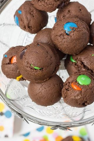 You must make these cookies... puffy, chocolatey and full of MEGA M&Ms