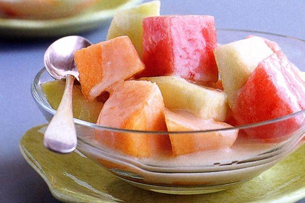 Trio of melons in coconut syrup recipe @recipesfornet