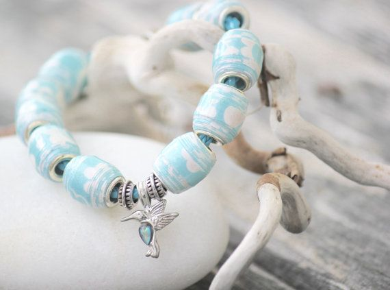 Hummingbird Haven Beautifully Beaded Bracelet by TheBeachPeach
