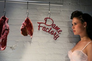 Dame Factory Inc is an award-winning experimental short film about power, sex and cold cuts. This stylish yet grotesque film takes a sexy, avant garde look at the roles women play in our culture, a tasty treat for the hungry eyes. Winner of the Best Experimental Film from both the Brooklyn Film Festival and theConey Island Film Festival.