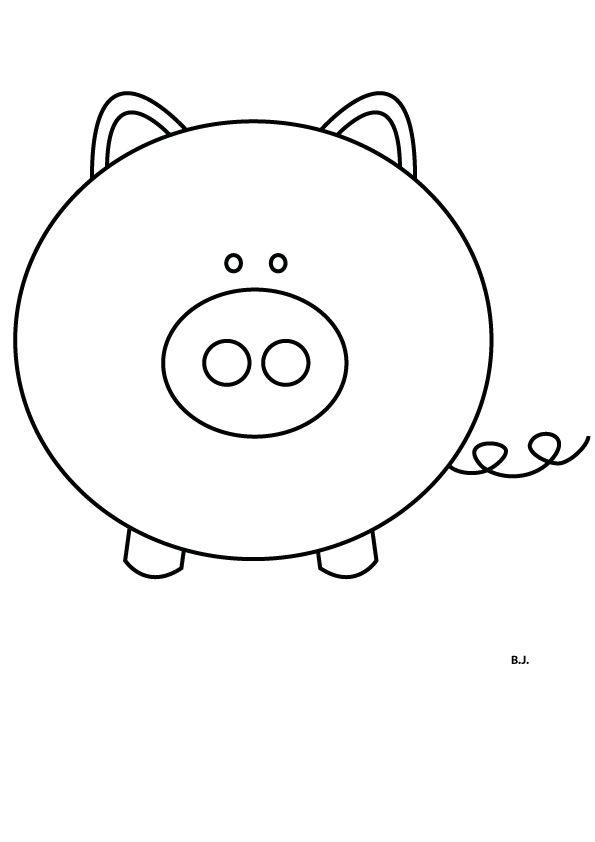 Digital Stamp - piggy