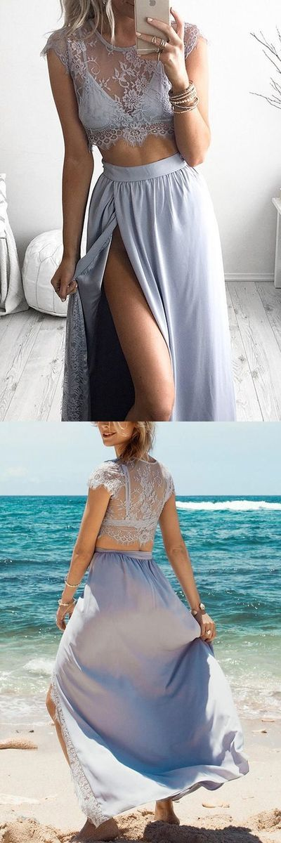 prom dresses, long prom dresses, 2 pieces lavender party dresses, cheap simple lavender homecoming dresses 9105 #LoveDresses #longpromdress #charmingpromgown #fashionpromdress #elegantpartydress #promdress #twopiecepromgown