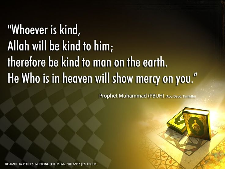 Always be kind.. Check out those selected Hadiths: http://www.onislam.net/english/the-wise-leader/459983-selected-hadiths.html https://www.google.com.eg/search?q=hadith&tbm=isch&tbs=isz:l&imgrc=_&ei=x3I3VvS_AobAOaS1soAO&emsg=NCSR&noj=1