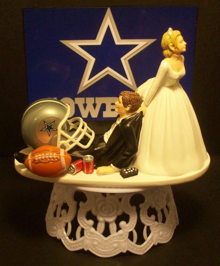 Dallas Cowboys Football Wedding Cake Topper Sports Funny | Cowboys ...
