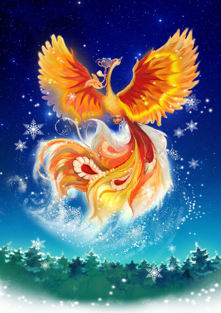 """Firebird: in Russian folklore, the Firebird is a magical bird that glows red, orange and yellow like a bonfire. In Russian its name is Zhar-Ptitsa which means """"heat bird.""""The feathers do not cease glowing if removed, and one feather can light a large room if not concealed. In later iconography, the form of the Firebird is usually that of a smallish fire-colouredpeacock, complete with a crest on its head and tail feathers with glowing """"eyes"""". At midnight, the bird comes into gardens to eat…"""