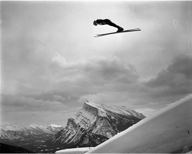 Ski jumping - Mount Norquay Banff National Park