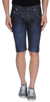 $51, Navy Denim Shorts: Djo Denim Bermudas. Sold by yoox.com. Click for more info: https://lookastic.com/men/shop_items/211205/redirect