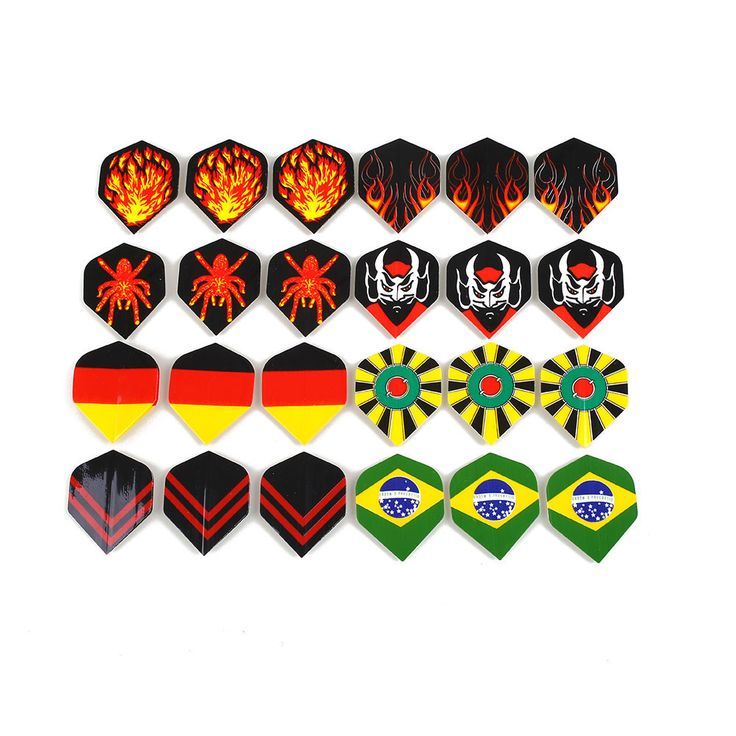 60Pcs Darts Tail Flights Wing Popular Pattern Nice Mixed Style for Professional Darts Wing Tail Cool Outdoor Sports 4.3*3.5cm